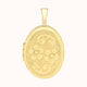Load image into Gallery viewer, 9ct Yellow Gold 16mm X 25mm Etched Flower-detail Oval Locket