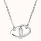 Load image into Gallery viewer, 925 Sterling Silver Double Heart Necklace