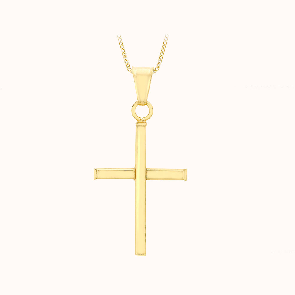 9ct Yellow Gold 16mm X 27mm Cross Pendant