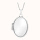 Load image into Gallery viewer, 9ct White Gold 17mm X 24mm Oval Locket