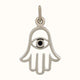 Load image into Gallery viewer, Sterling Silver Hamsa Hand Charm with Evil Eye