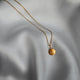 Load image into Gallery viewer, Pebble Gold Disc Initial Necklace