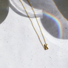 Load image into Gallery viewer, Gold Sideways Initial Necklace