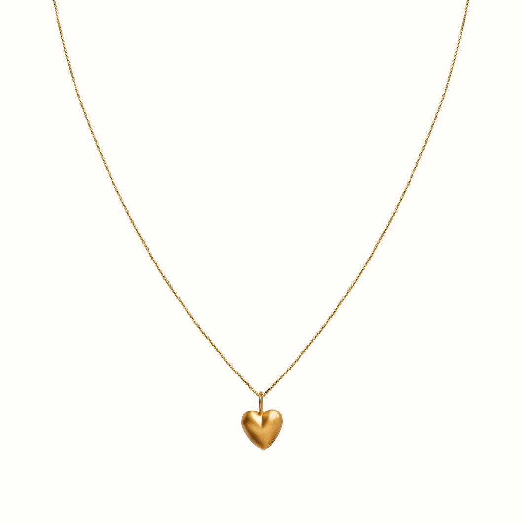 Small Chunky Gold Heart Necklace