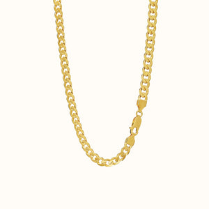 Chunky Gold Flat Chain Necklace