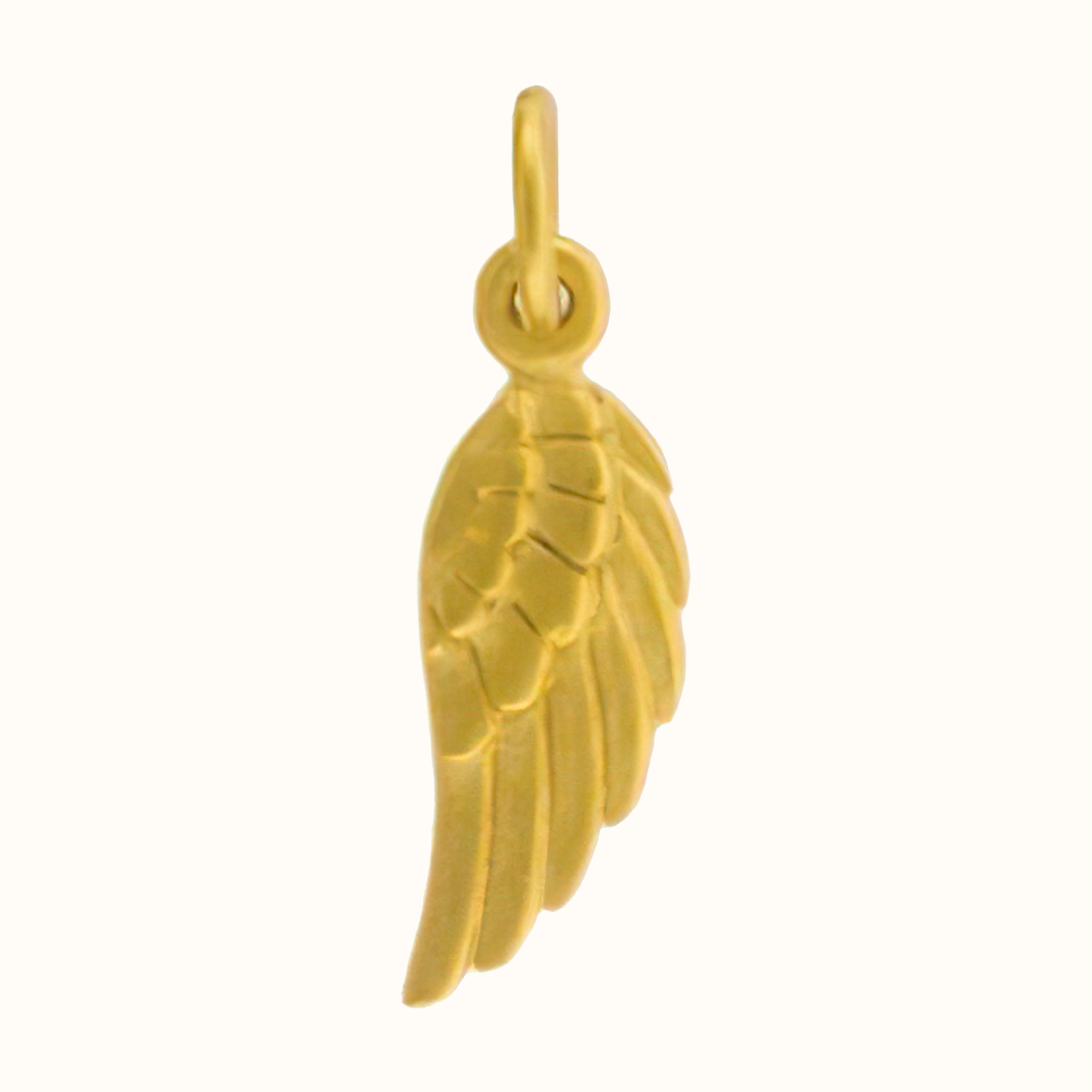 24ct Gold Angel Wing Charm