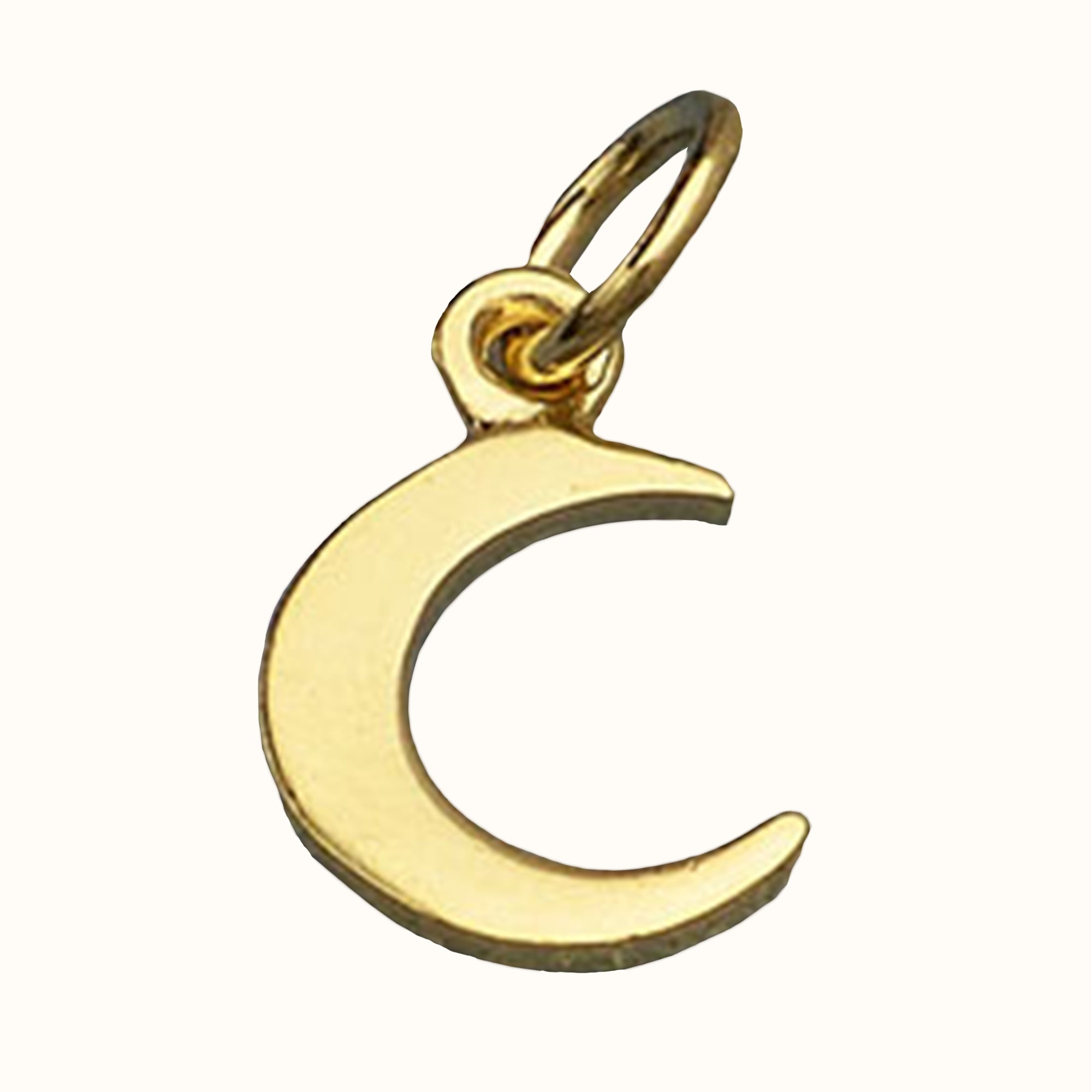 14ct Gold Tiny Crescent Moon Charm