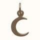 Load image into Gallery viewer, 14ct Gold Tiny Crescent Moon Charm