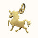 Load image into Gallery viewer, 14ct Gold Unicorn Charm