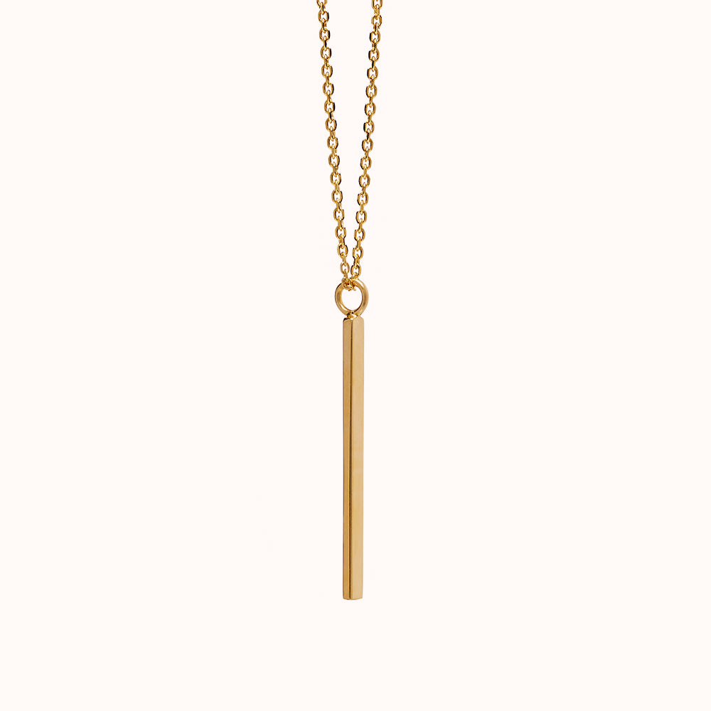 Serra - Gold Vertical Bar Necklace