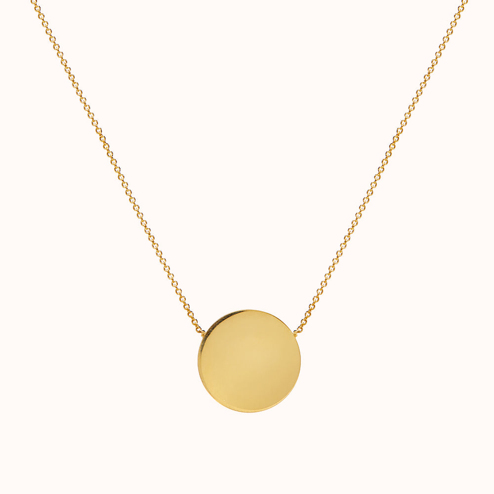 Miro - Gold Disc Necklace