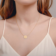 Load image into Gallery viewer, Gold Disc Necklace