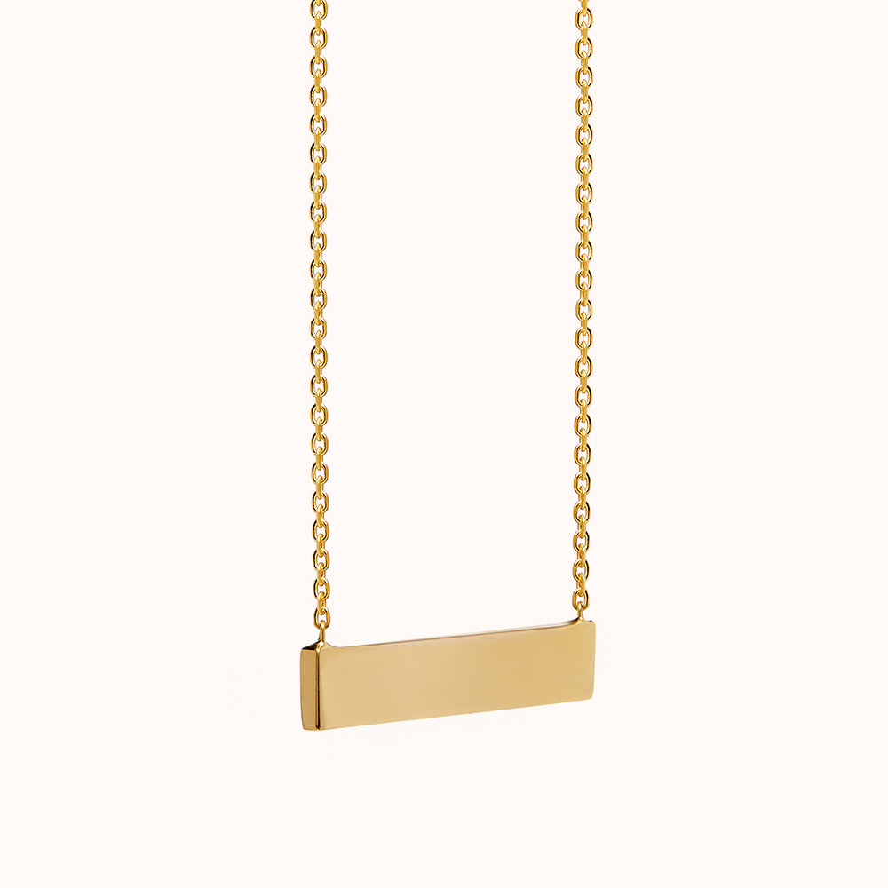 Isa - Gold Horizontal Bar Necklace