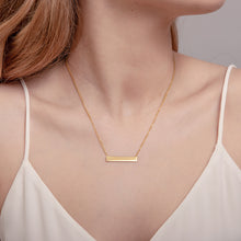 Load image into Gallery viewer, Gold Horizontal Bar Necklace
