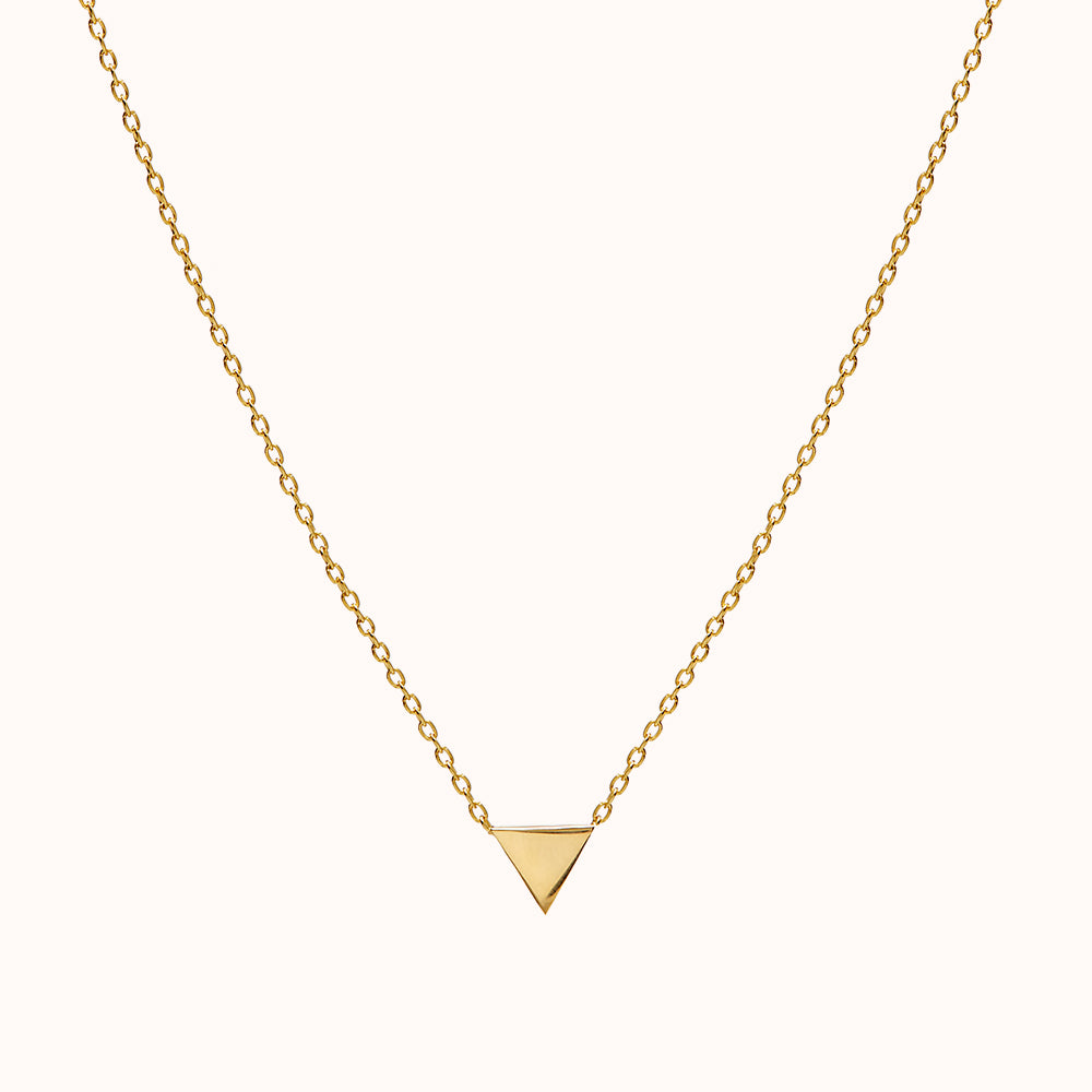 Mira - Gold Triangle Necklace