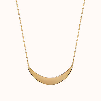 Helene - Gold Crescent Necklace