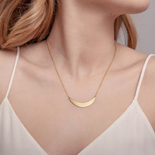 Load image into Gallery viewer, Gold Crescent Necklace