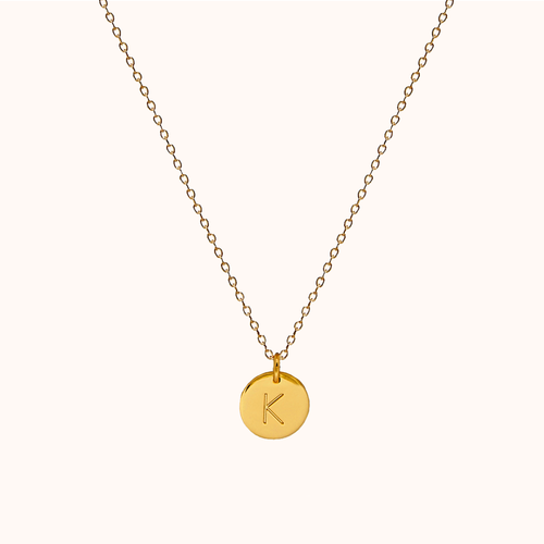 K Initial Necklace
