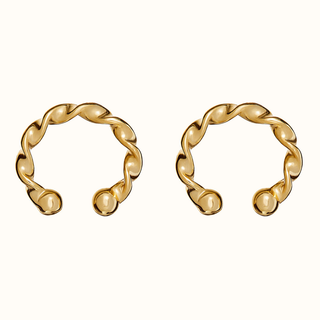 Twisted Gold Ear Cuff