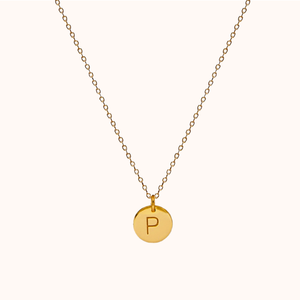P Initial Necklace