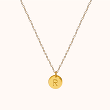Load image into Gallery viewer, R Initial Necklace