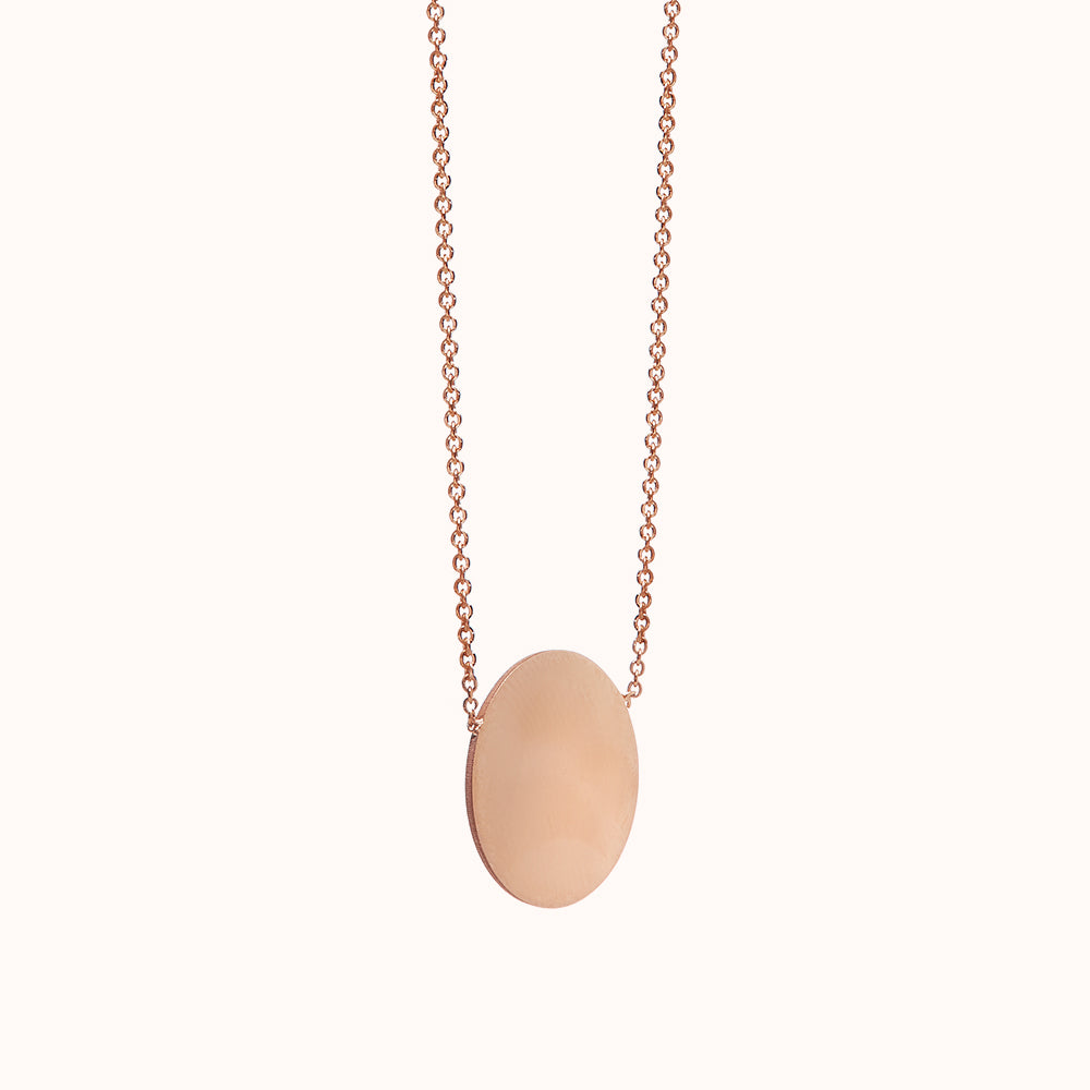 Miro - Rose Gold Disc Necklace