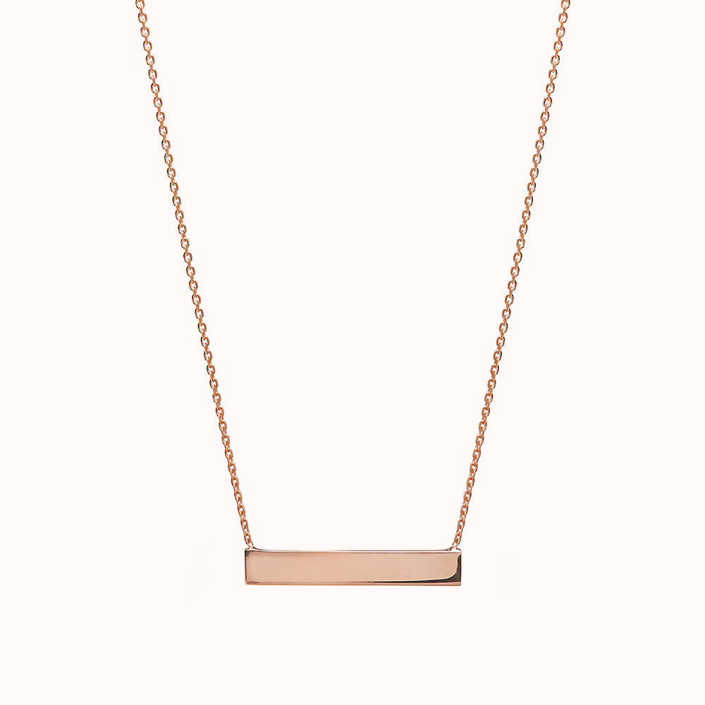 Isa - Rose Gold Horizontal Bar Necklace