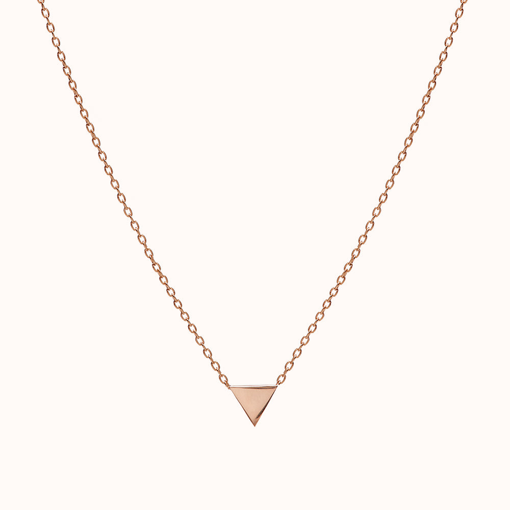Mira - Rose Gold Triangle Necklace