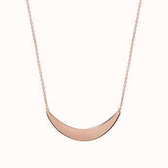 Helene - Rose Gold Crescent Necklace