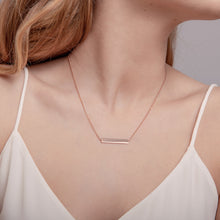 Load image into Gallery viewer, Rose Gold Horizontal Bar Necklace