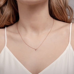 Rose Gold Triangle Necklace
