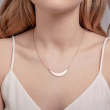 Load image into Gallery viewer, Rose Gold Crescent Necklace