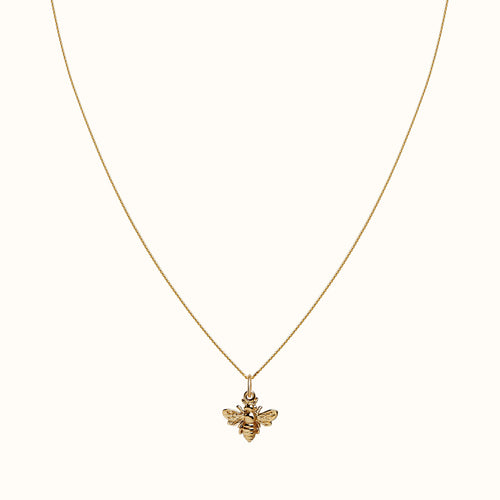 Small Gold Bumble Bee Necklace