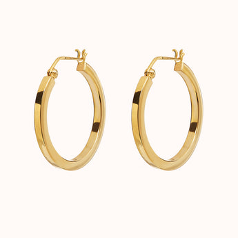 Large Creole Gold Earrings