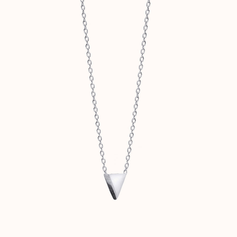 Mira - Silver Triangle Necklace