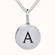 Load image into Gallery viewer, Alma - Pebble 925 Sterling Silver Disc Initial Necklace