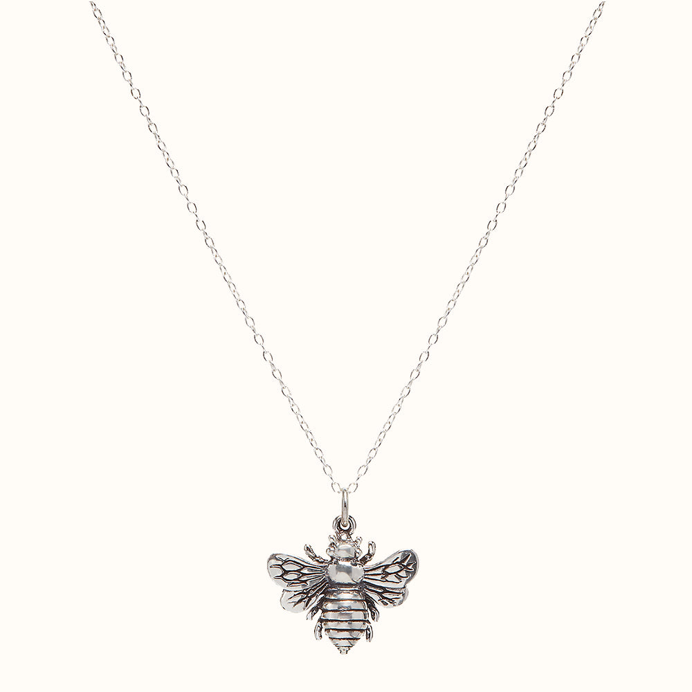 Bourdon - 925 Sterling Silver Bumble Bee Necklace