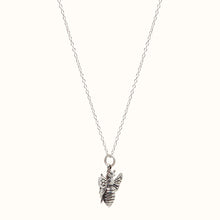 Load image into Gallery viewer, Large Silver Bumble Bee Necklace