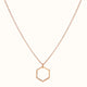 Load image into Gallery viewer, Six - 18ct Rose Gold Hexagonal Necklace
