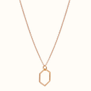 Rose Gold Hexagonal Necklace