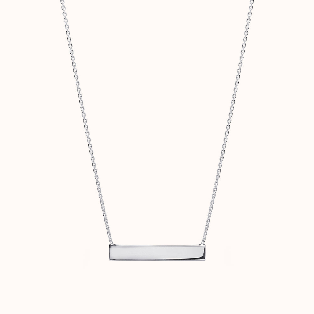 Isa - Silver Horizontal Bar Necklace