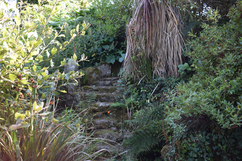 Granite Staircase Cornish Cottage Garden