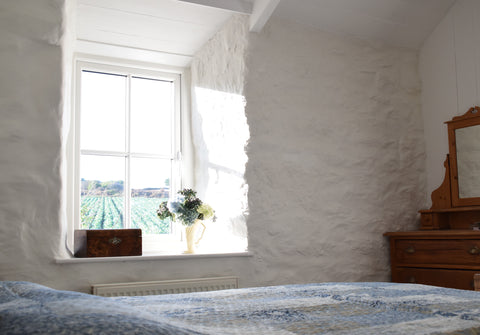 Bedroom one Cornish Cottage Renovation