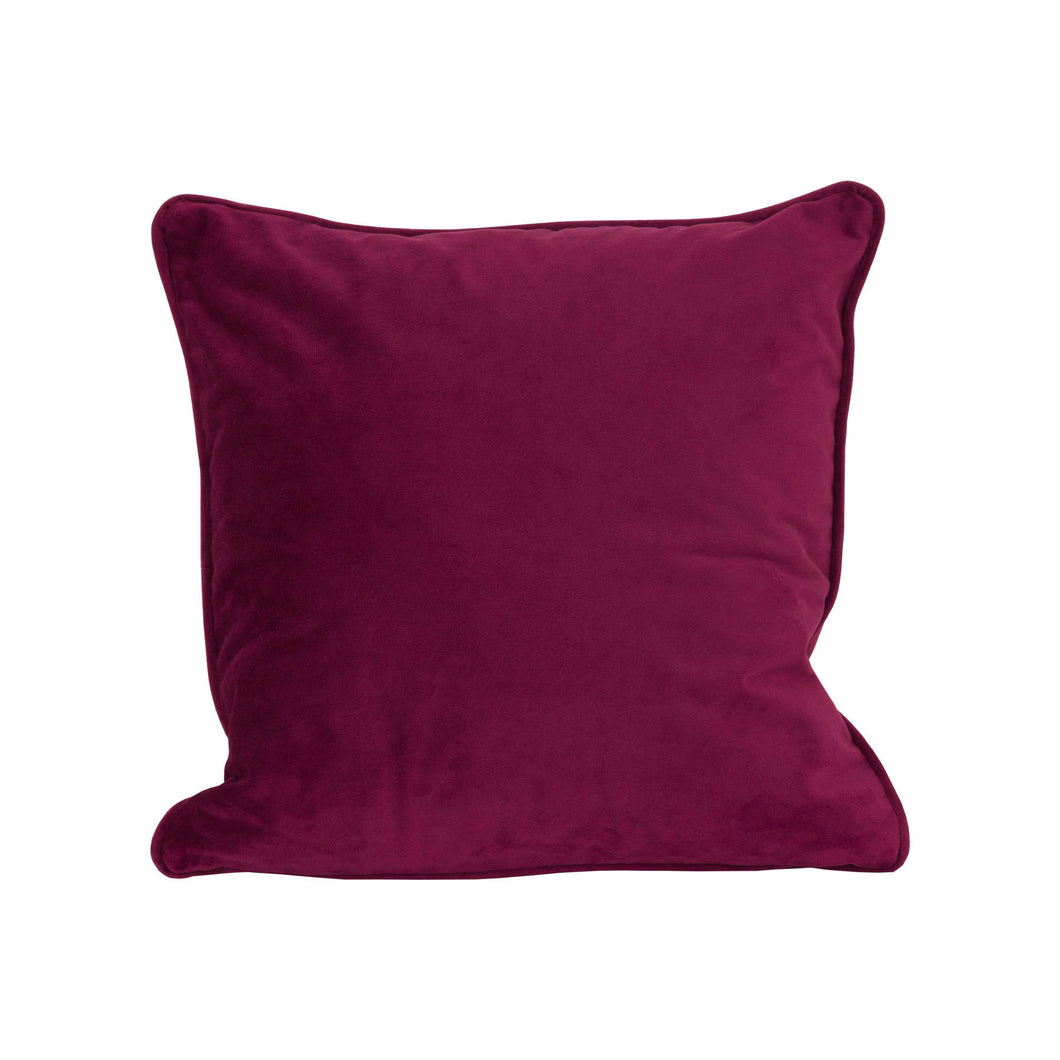 Aubergine Velvet Cushion