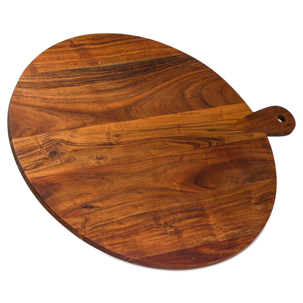 Large Round Hardwood Chopping Board