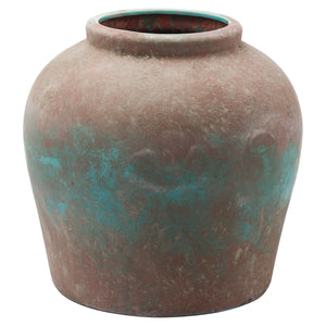 Blue Ceramic Statement Vase