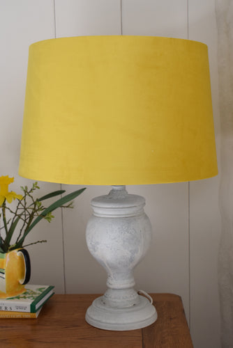 White Washed Natural Wood Lamp
