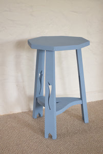 Blue Painted Plant Stand