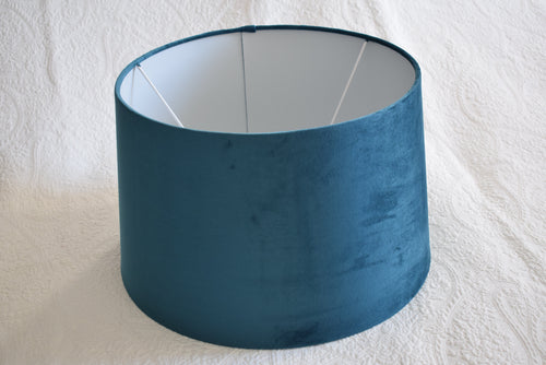 Luxurious Teal Velvet Lampshade