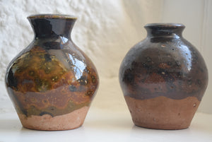Two studio pottery vases